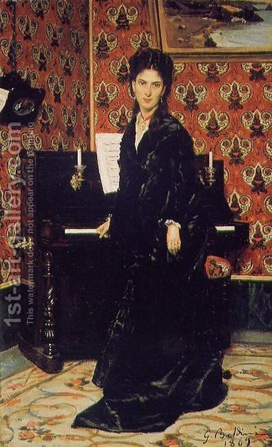 Portrait of Mary Donegan by Giovanni Boldini - Reproduction Oil Painting