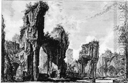Vedute di Roma 117 by Giovanni Battista Piranesi - Reproduction Oil Painting
