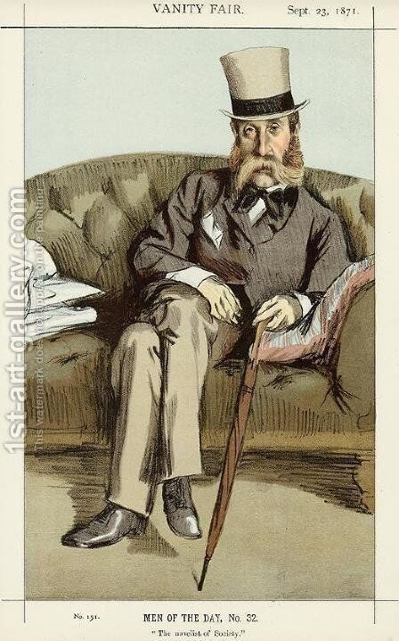 Caricature of George Whyte Melville by James Jacques Joseph Tissot - Reproduction Oil Painting