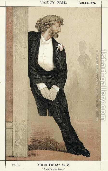 Caricature of Frederic Leighton by James Jacques Joseph Tissot - Reproduction Oil Painting