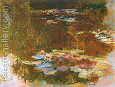 Water Lily Pond 3 by Claude Oscar Monet - Reproduction Oil Painting