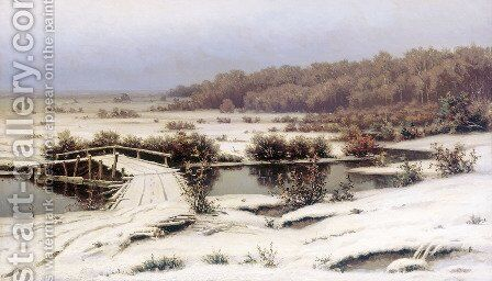 First Snow by Efim Efimovich Volkov - Reproduction Oil Painting