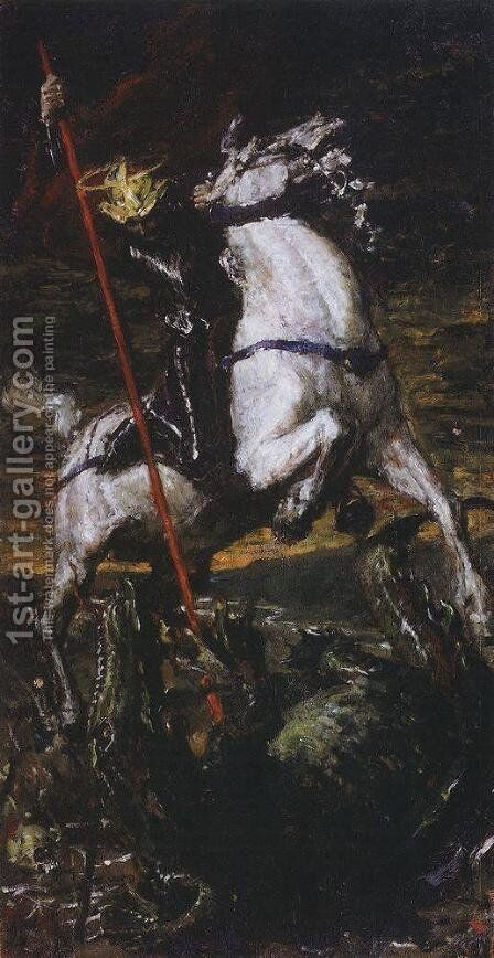 George the Victorious by Valentin Aleksandrovich Serov - Reproduction Oil Painting