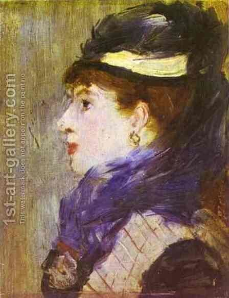 Portrait of a Lady by Edouard Manet - Reproduction Oil Painting