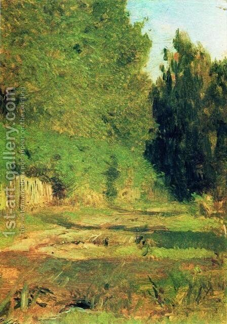 Near the grove by Isaak Ilyich Levitan - Reproduction Oil Painting