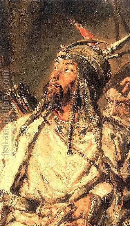 Tugai Bey by Jan Matejko - Reproduction Oil Painting