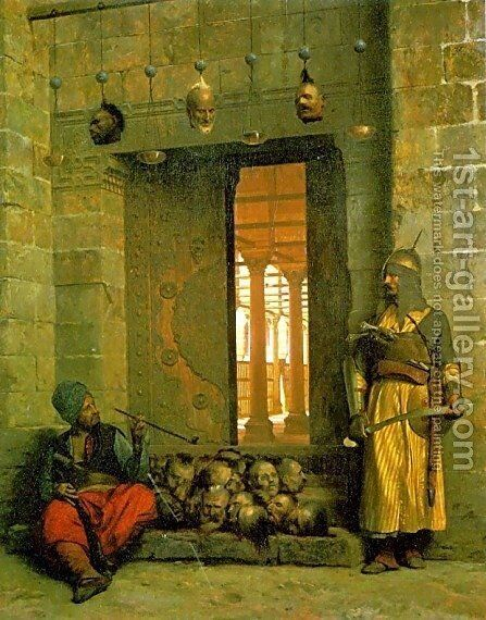 Heads of the Rebel Beys by Jean-Léon Gérôme - Reproduction Oil Painting