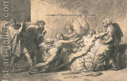 Death of Cato of Utica by Baron Pierre-Narcisse Guerin - Reproduction Oil Painting