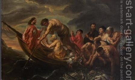 The Miraculous Draught of Fishes by Jacob Jordaens - Reproduction Oil Painting
