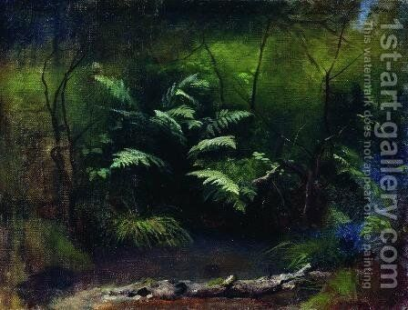 Ferns by the water by Isaak Ilyich Levitan - Reproduction Oil Painting