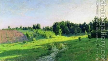 Evening shadows by Isaak Ilyich Levitan - Reproduction Oil Painting