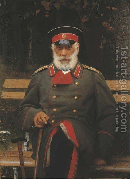 Portrait of Admiral Login Loginovich Heyden by Ivan Nikolaevich Kramskoy - Reproduction Oil Painting