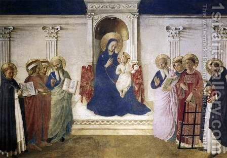 Sacred Conversation by Angelico Fra - Reproduction Oil Painting