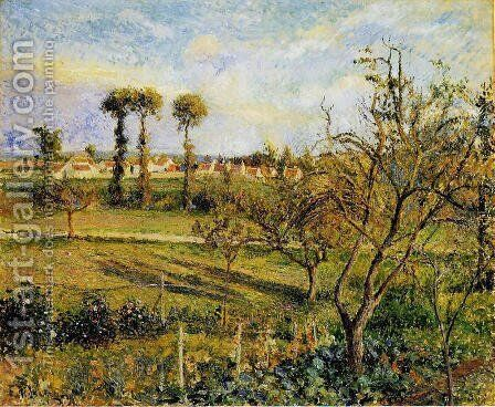 Sunset at Valhermeil, near Pontoise 2 by Camille Pissarro - Reproduction Oil Painting