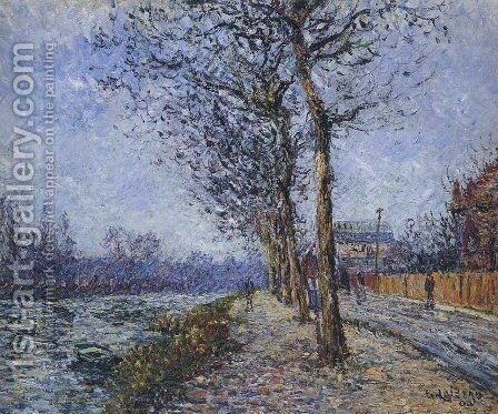 Oise at Pontoise by Gustave Loiseau - Reproduction Oil Painting