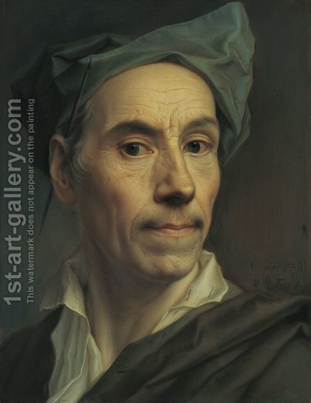 Self Portrait, 1761 by Christian Seybold - Reproduction Oil Painting