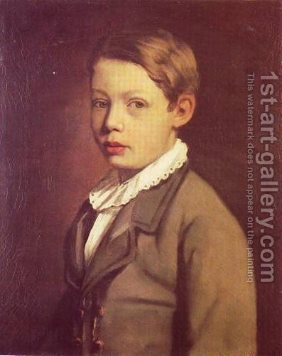 Portrait of a Boy from the Gottlieb Family by Maurycy Gottlieb - Reproduction Oil Painting