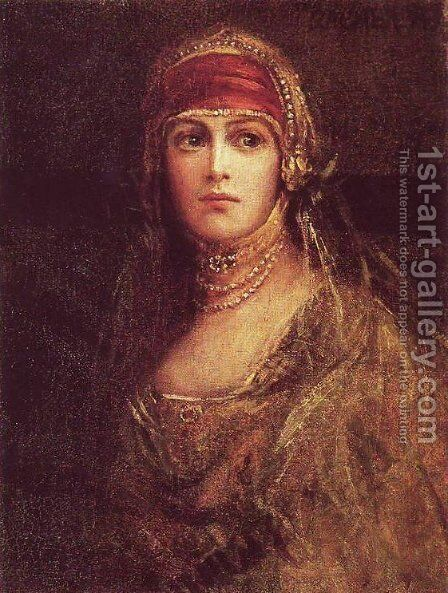 Rachela by Maurycy Gottlieb - Reproduction Oil Painting