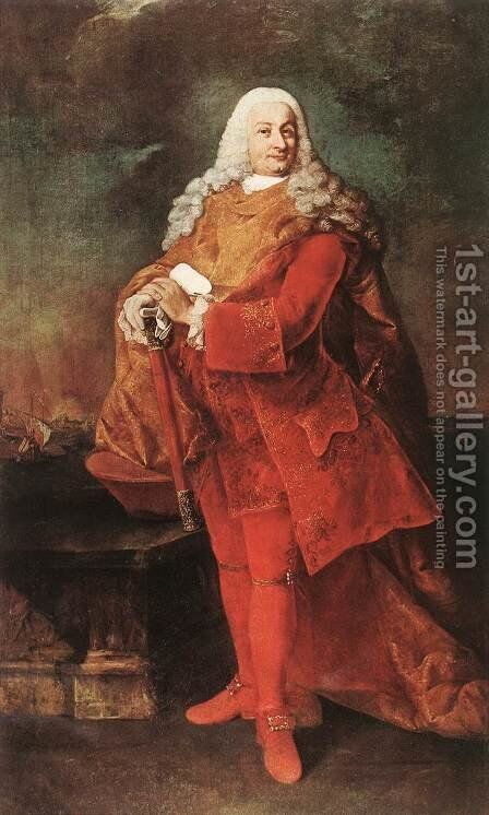 Portrait of Jacopo Gradenigo 1778-81 by Alessandro Longhi - Reproduction Oil Painting