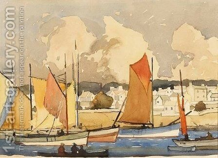 Concarneau by Millard Sheets - Reproduction Oil Painting