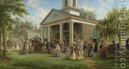 Sunday Morning (Old Church at Bruynswick) by Edward Lampson Henry - Reproduction Oil Painting