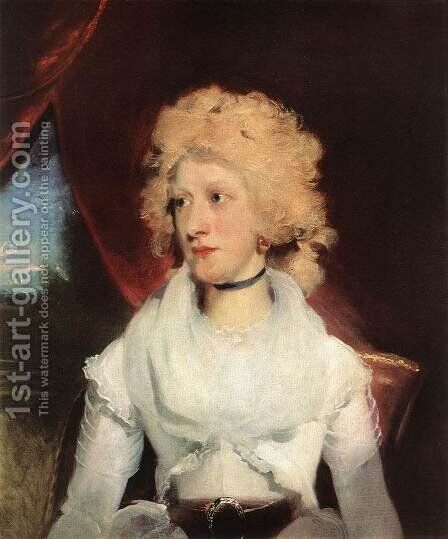 Miss Martha Carry c. 1789 by Sir Thomas Lawrence - Reproduction Oil Painting