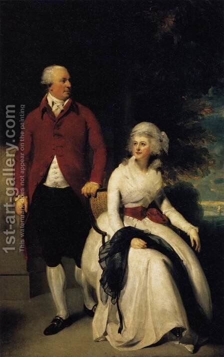 Mr and Mrs John Julius Angerstein  1792 by Sir Thomas Lawrence - Reproduction Oil Painting