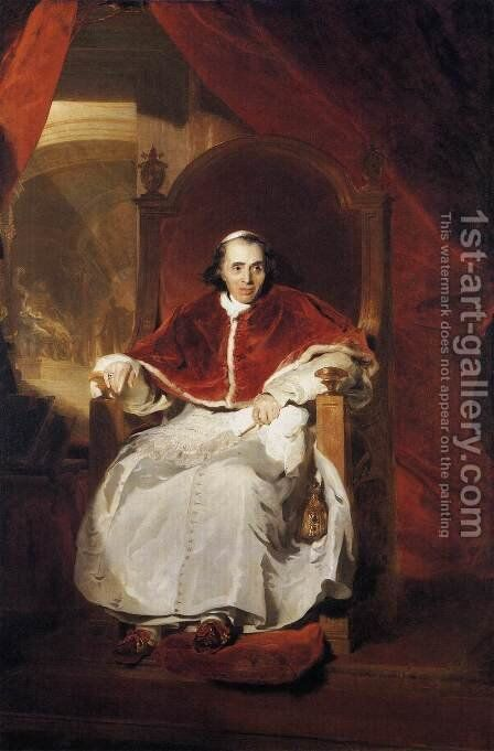 Pope Pius VII  1819 by Sir Thomas Lawrence - Reproduction Oil Painting