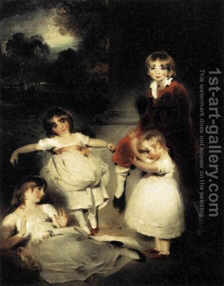 Portrait of the Children of John Angerstein  1808 by Sir Thomas Lawrence - Reproduction Oil Painting