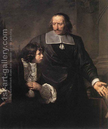 A Teacher and his Pupil by Claude Lefebvre - Reproduction Oil Painting