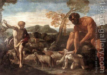 Norandino And Lucina Discovered By The Ogre by Giovanni Lanfranco - Reproduction Oil Painting