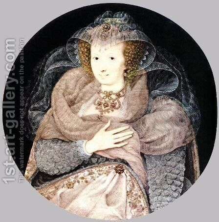 Frances Howard, Countess of Somerset and Essex c. 1595 by Isaac Oliver - Reproduction Oil Painting