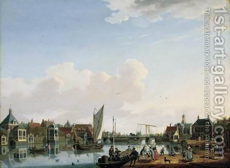 Ouderkerk, near Amsterdam 1779 by Isaak Ouwater - Reproduction Oil Painting