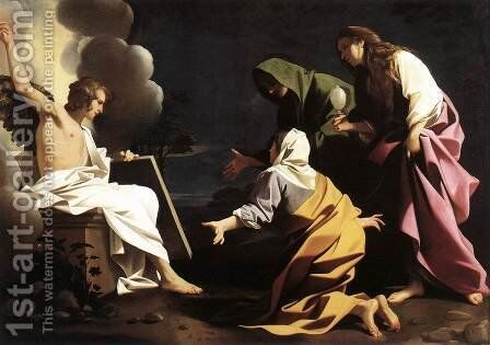 The Two Marys at the Tomb 1613 by Bartolomeo Schedoni - Reproduction Oil Painting