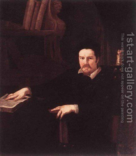 Portrait Of Monsignor Clemente Merlini by Andrea Sacchi - Reproduction Oil Painting