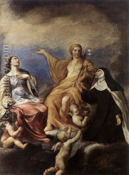 The Three Magdalenes 1634 by Andrea Sacchi - Reproduction Oil Painting