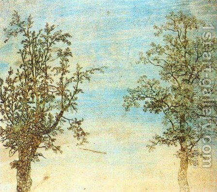 Two Trees c. 1625 by Hercules Seghers - Reproduction Oil Painting