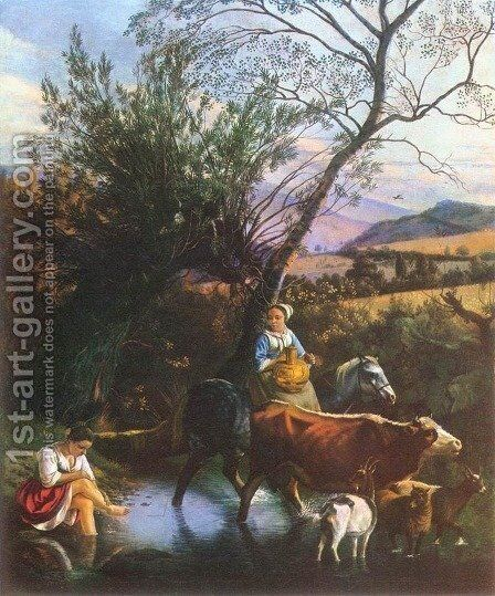 The Ford 1672 by Jan Siberechts - Reproduction Oil Painting