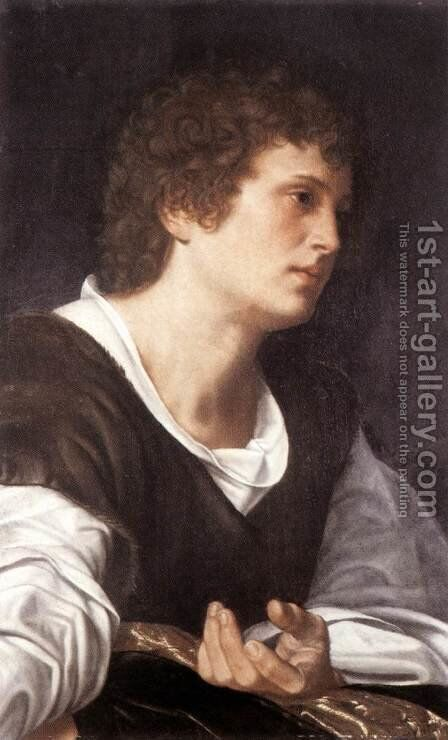 Bust of a Youth c. 1530 by Giovanni Girolamo Savoldo - Reproduction Oil Painting