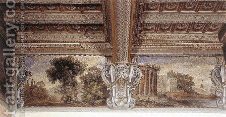 Imaginary Landscape With Temple Of Sibyl At Tivoli by Agostino Tassi - Reproduction Oil Painting