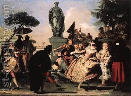 Minuet 1756 by Giovanni Domenico Tiepolo - Reproduction Oil Painting