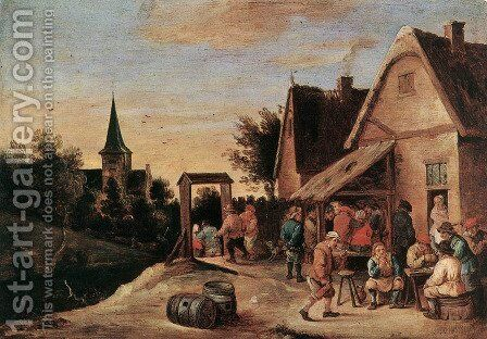 Village Feast by David The Elder Teniers - Reproduction Oil Painting