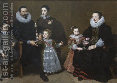 Family Portrait 1631 by Cornelis De Vos - Reproduction Oil Painting