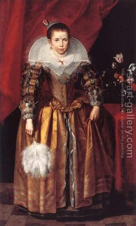 Portrait of a Girl at the Age of 10 by Cornelis De Vos - Reproduction Oil Painting