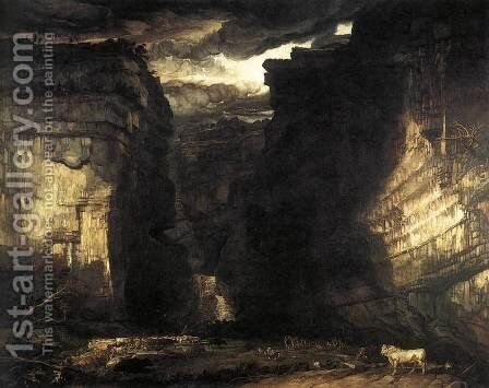 Gordale Scar 1811-13 by James Ward - Reproduction Oil Painting
