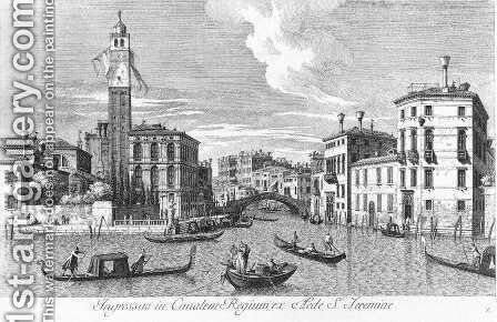 San Geremia and the Entrance of Cannaregio 1735 by Antonio Visentini - Reproduction Oil Painting