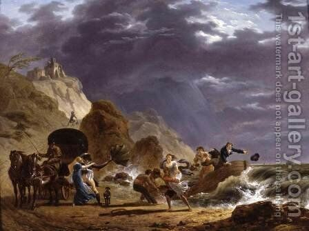 Arrival of Emigres with the Duchess of Berry on the French Coast by Carle Vernet - Reproduction Oil Painting