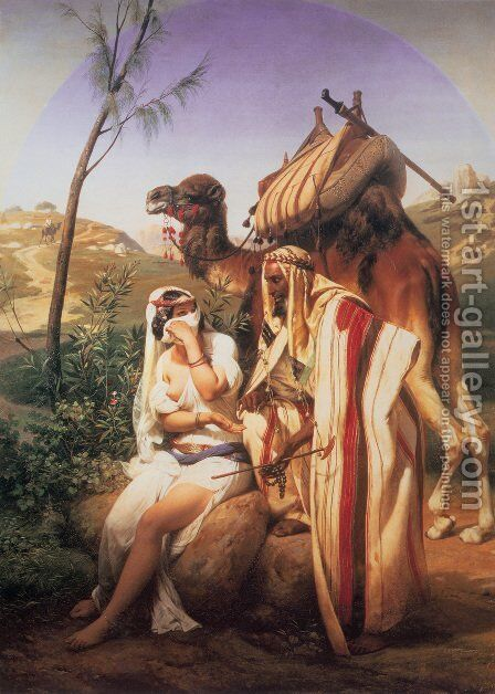 Jehuda and Tamar 1840 by Horace Vernet - Reproduction Oil Painting