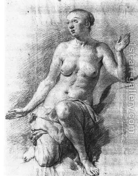 Study of a Female Nude by Adriaen Van De Velde - Reproduction Oil Painting