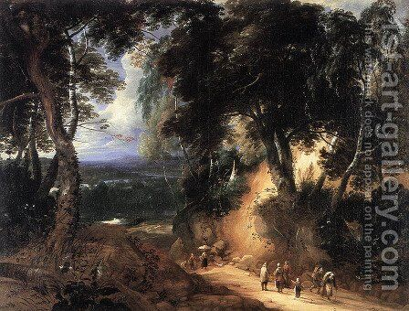 The Soignes Forest by Lodewijk De Vadder - Reproduction Oil Painting